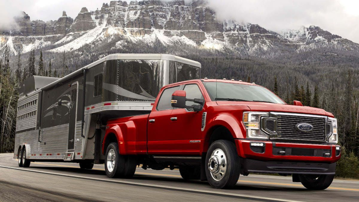 2020 Ford Super Duty with trailer