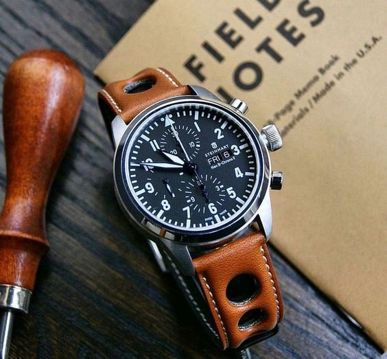 22mm Honey Horween Leather Rallye Watch
