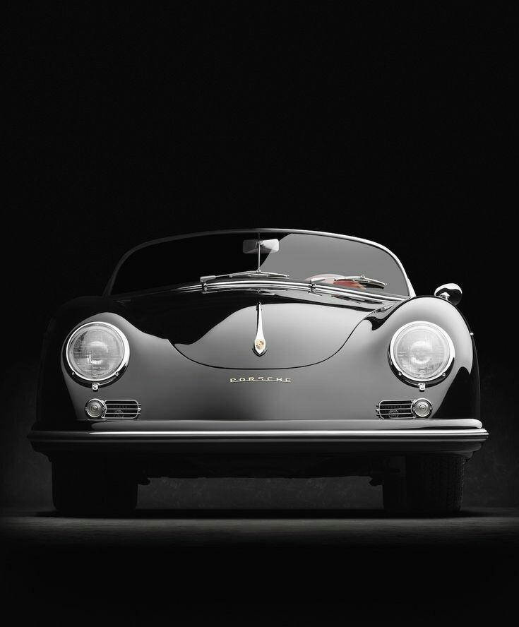 black convertible Porsche