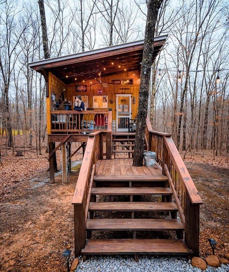 custom cabin in the woods