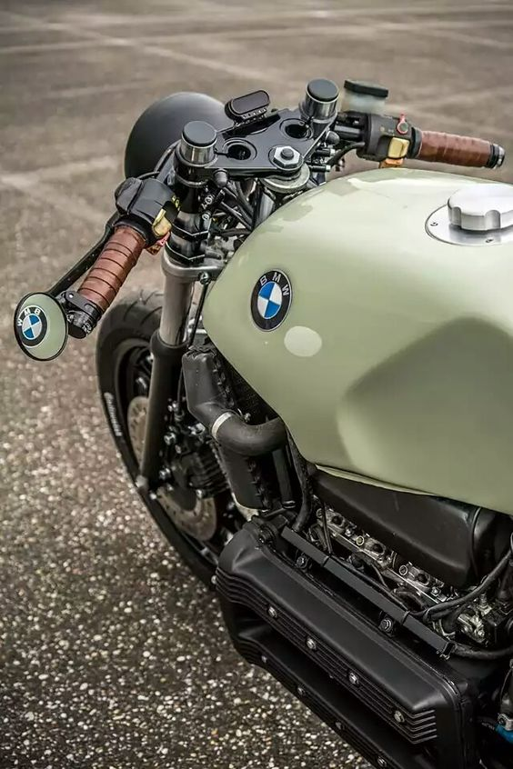 green bmw motorcycle