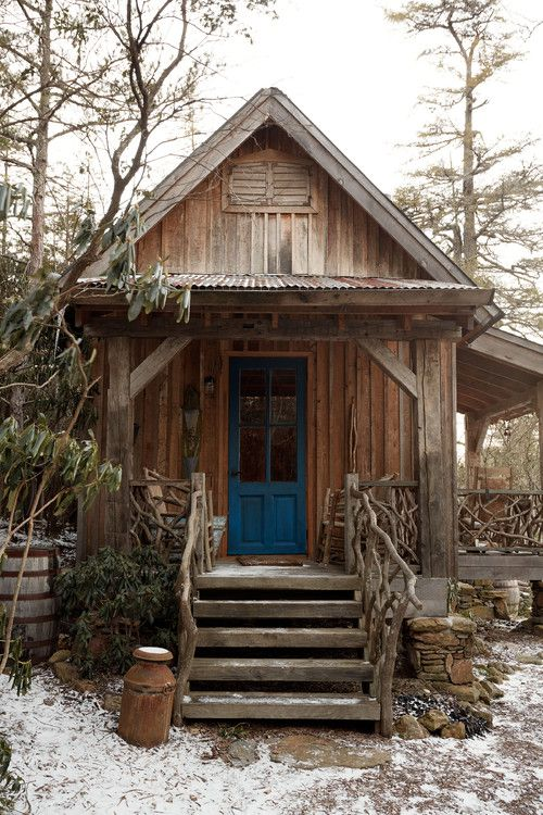 old and rustic cabin in the woods