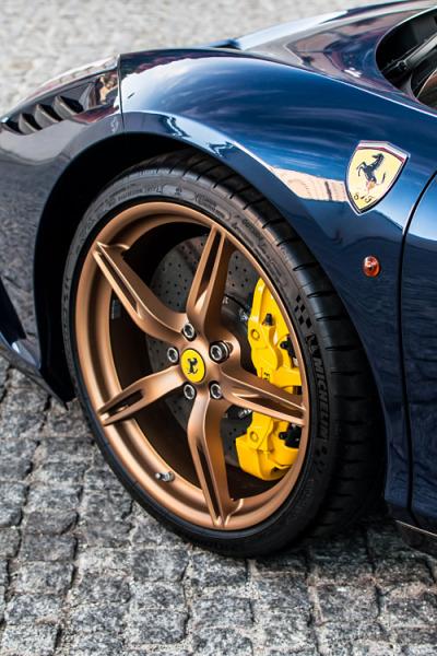 front wheel of a ferrari