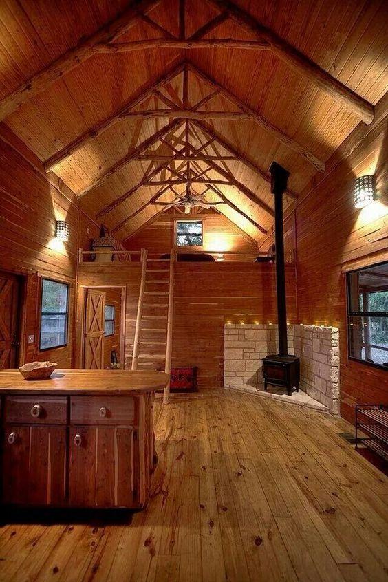 masculine cabin interior design
