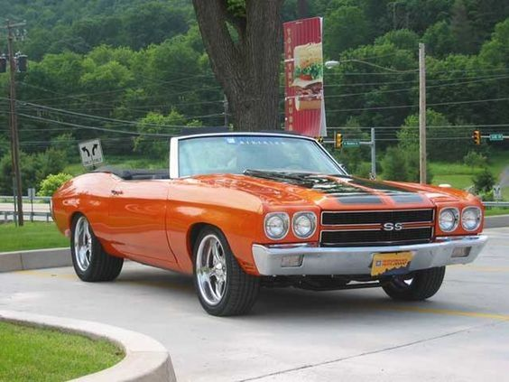 orange convertible chevelle