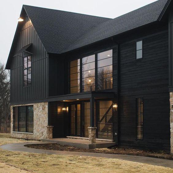 stunning black on modern home design