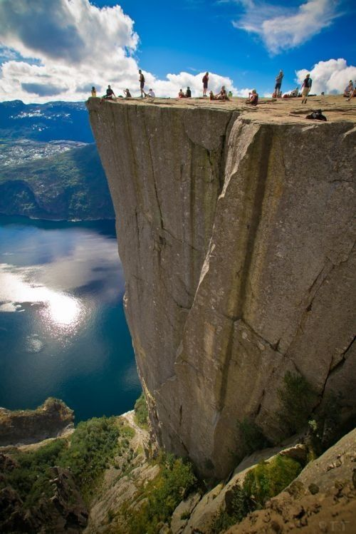the scenery is great from Pulpit Rock, Norway
