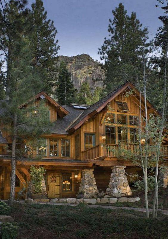 massive rustic cabin home