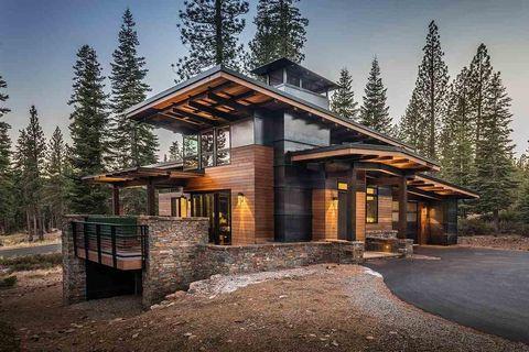modern mountain home in truckee ca