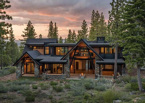 mountain home in the country