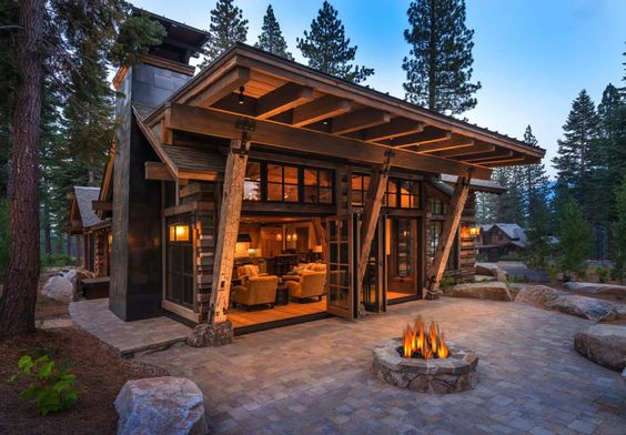 mountain style cabin