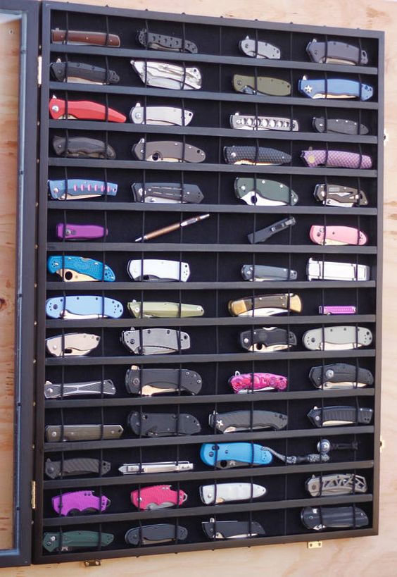 pocket knife collection and display case
