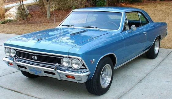 blue 1966 chevelle