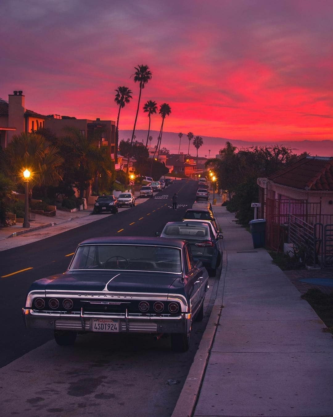 chevy impala with los angeles sunset