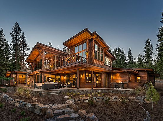 Truckee California Luxury Log Home