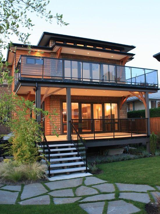 glass balcony home