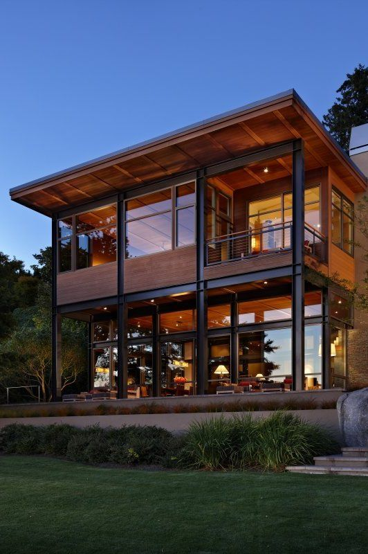 home with large windows