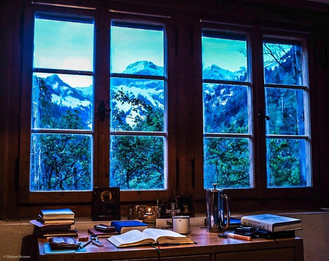 desk with a view