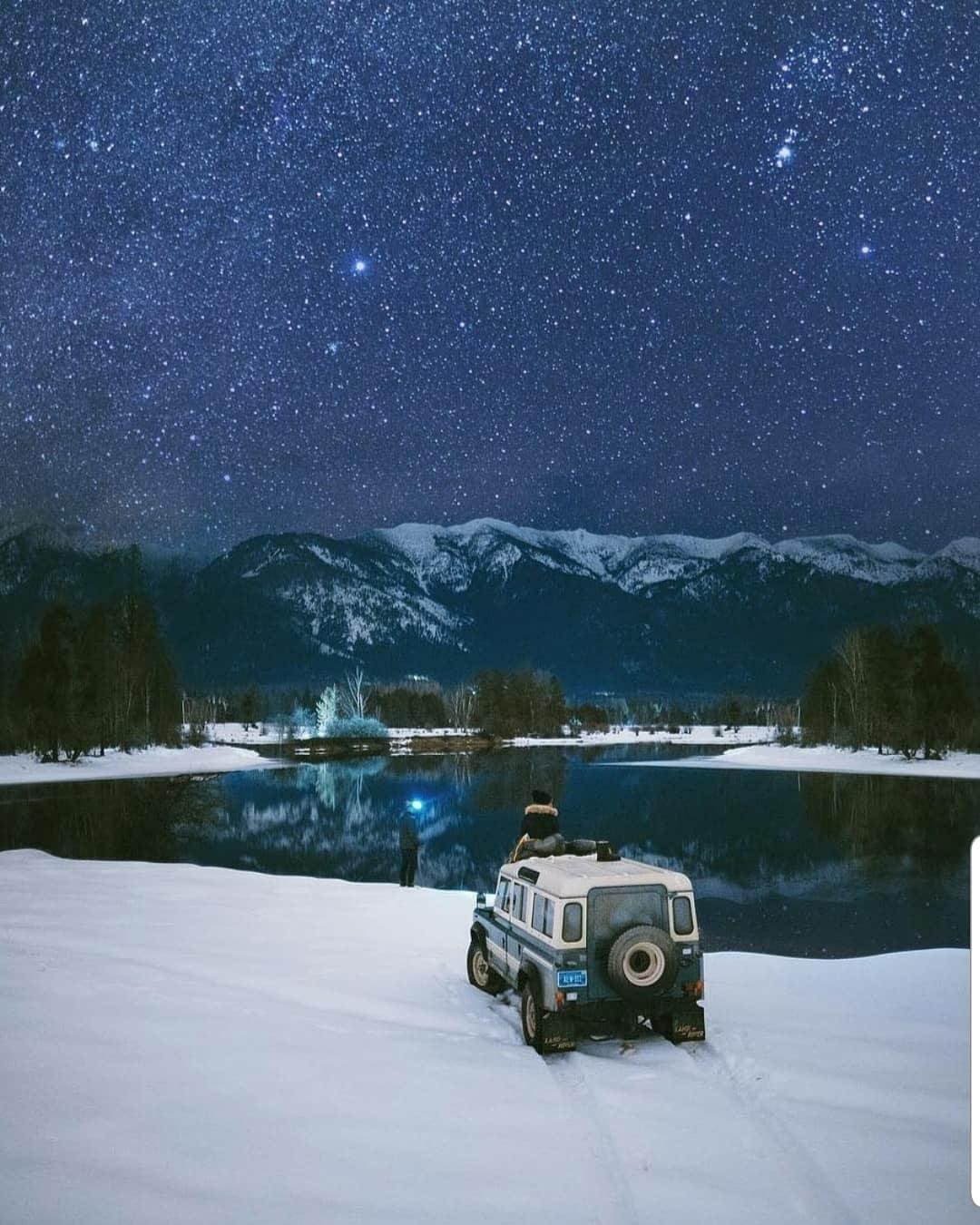 cold starlit night