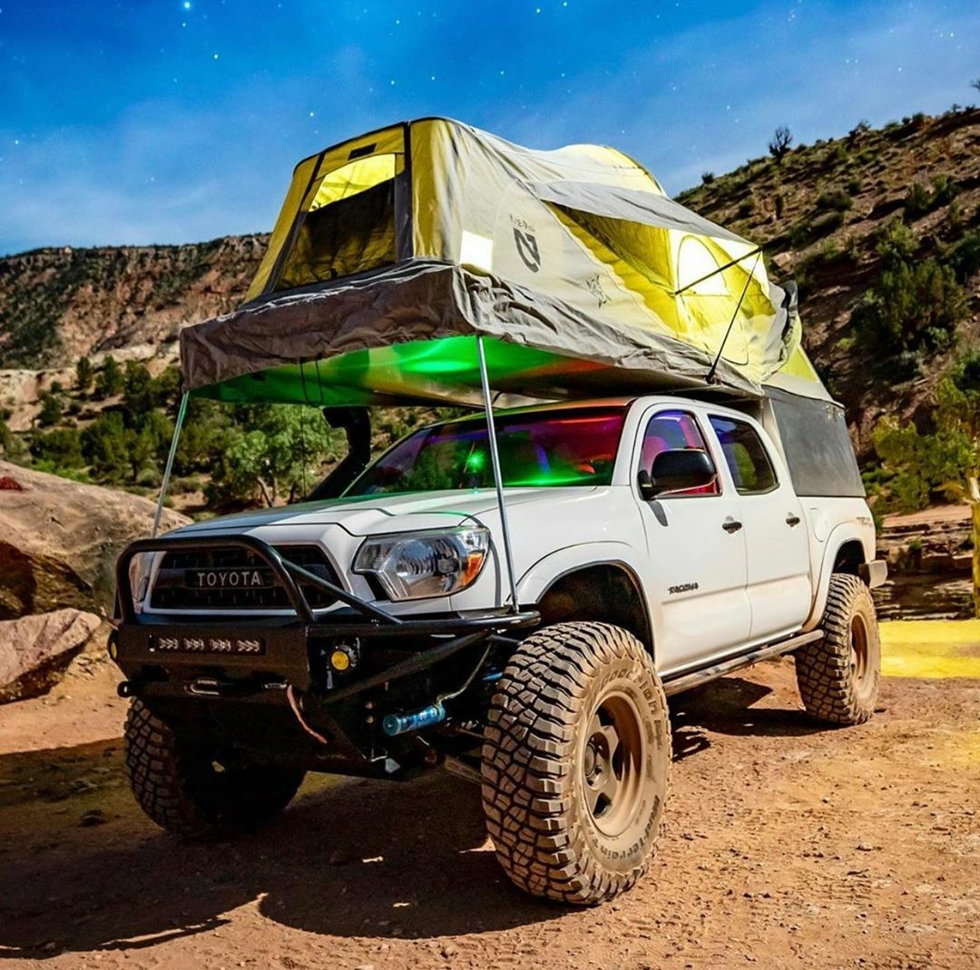 toyota truck camping