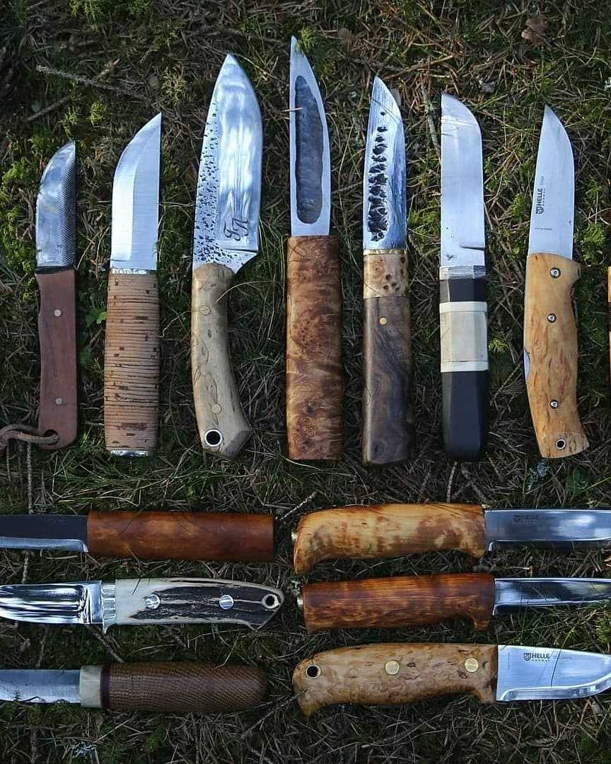 bushcraft knife collection