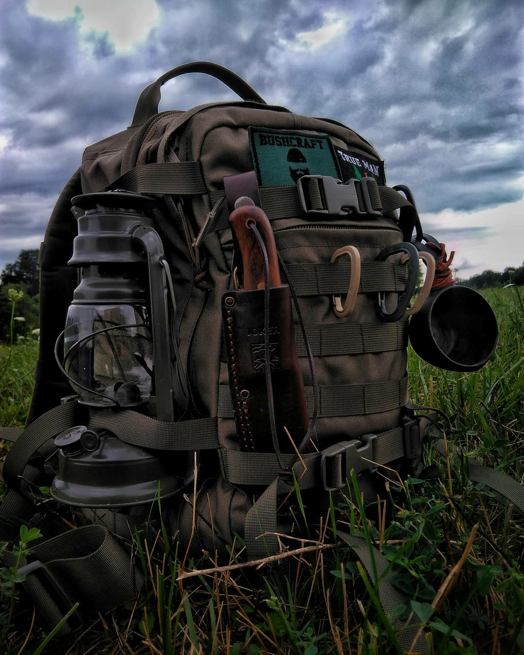 backpack loaded with gear