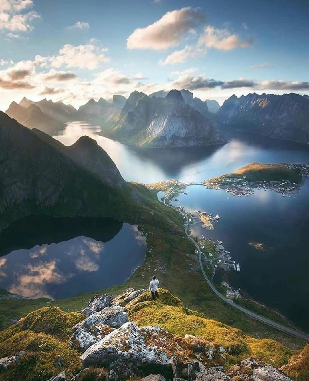 man on mountain in Norway