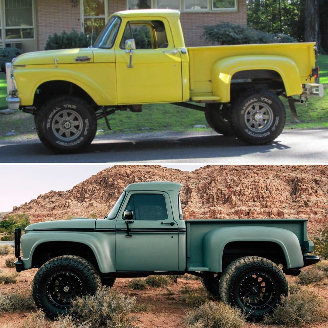 1964 F250 before and after