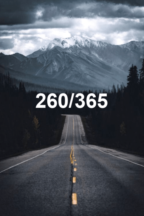 today is day 260 of the year 2019