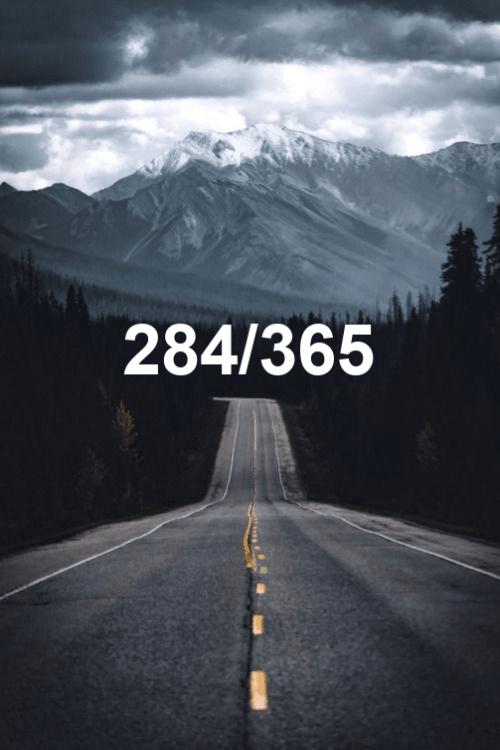 today is day 284 of the year 2019
