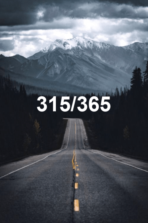 today is day 315 of the year 2019