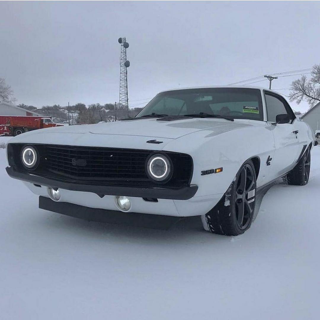 69 Camaro in the snow