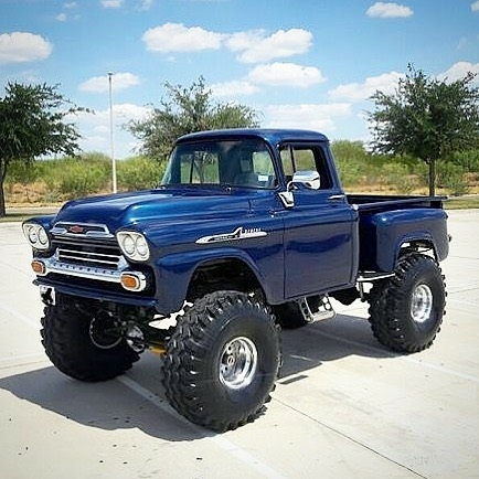 lifted classic chevy pickup