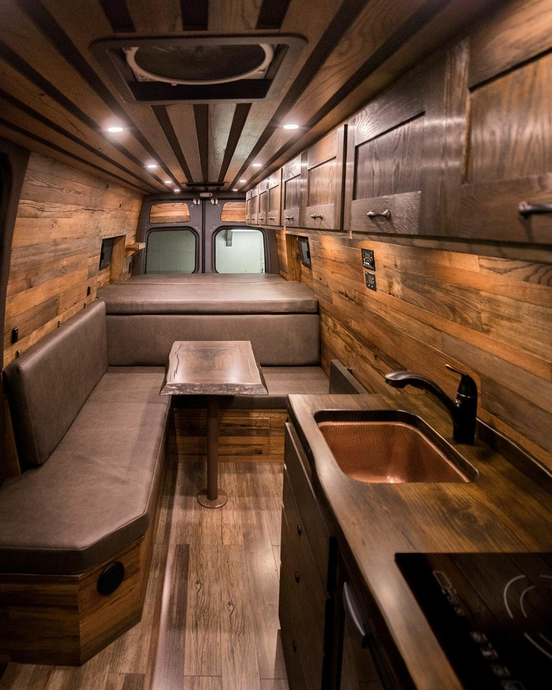 wood interior camper van