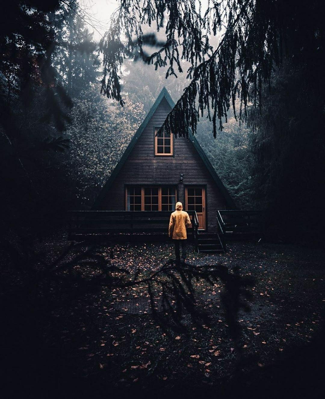 rainy cabin