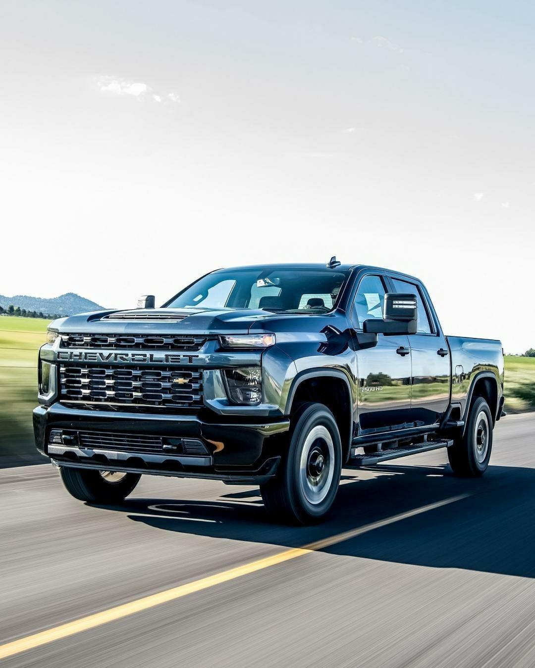 2020 Chevy Silverado on highway