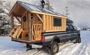 Rugged Men Make Rugged Things - Alaskan Pioneer Builds Rolling Log Cabin