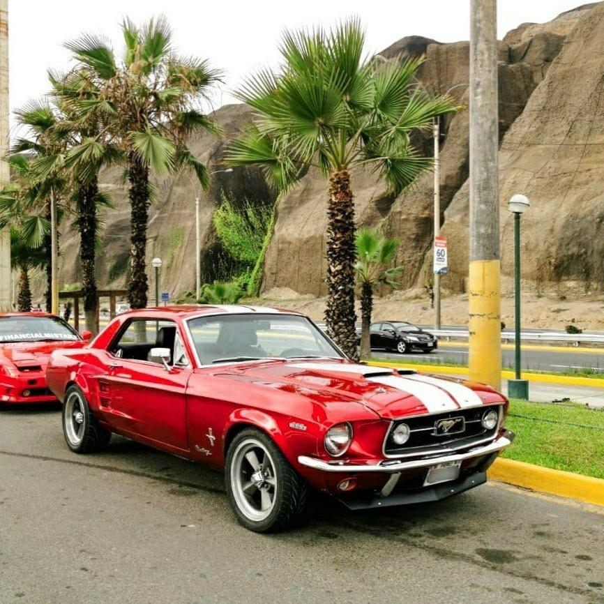 red 67 Mustang Hardtop 289