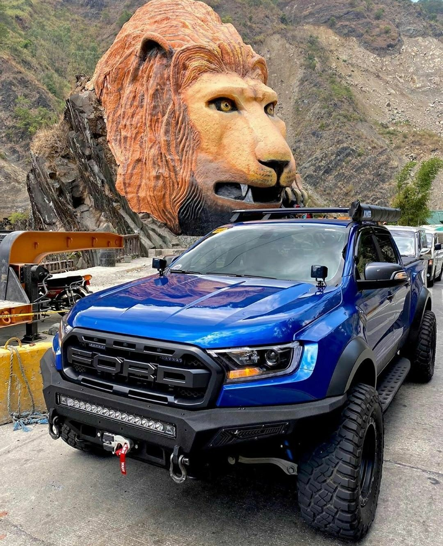 blue ford raptor