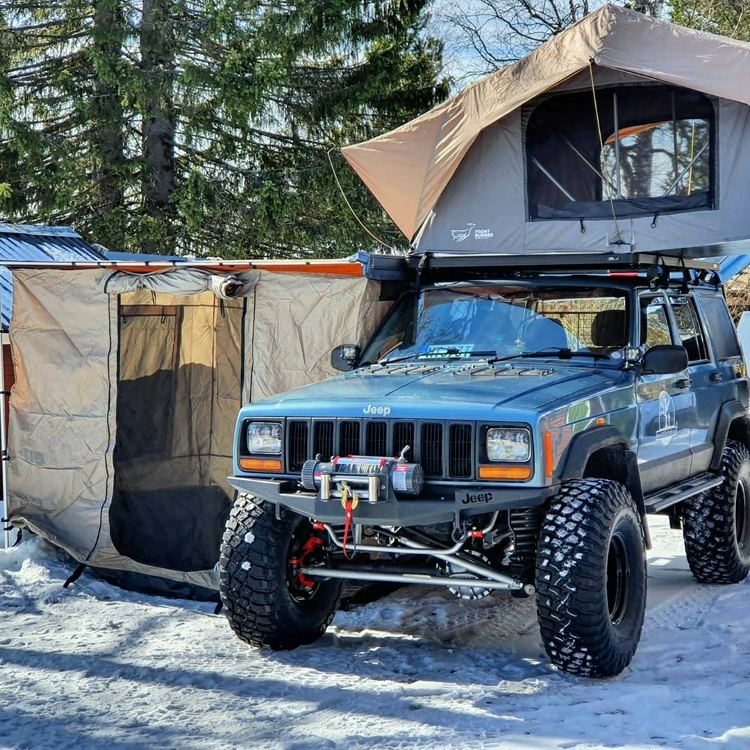 Jeep tent camping