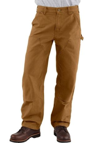 Carhartt Washed-Duck Double-Front Work Dungaree Pant