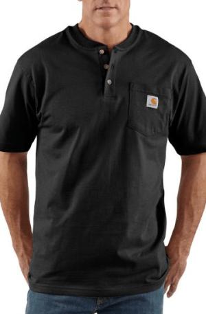 Carhartt K84 – Short Sleeve Workwear Henley T-Shirt