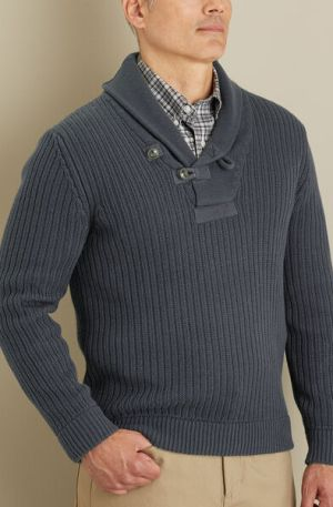 Duluth Trading Men's High-Neck Infantry Sweater