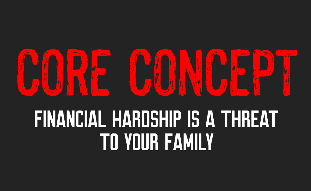 core concept - financial hardship the manly club