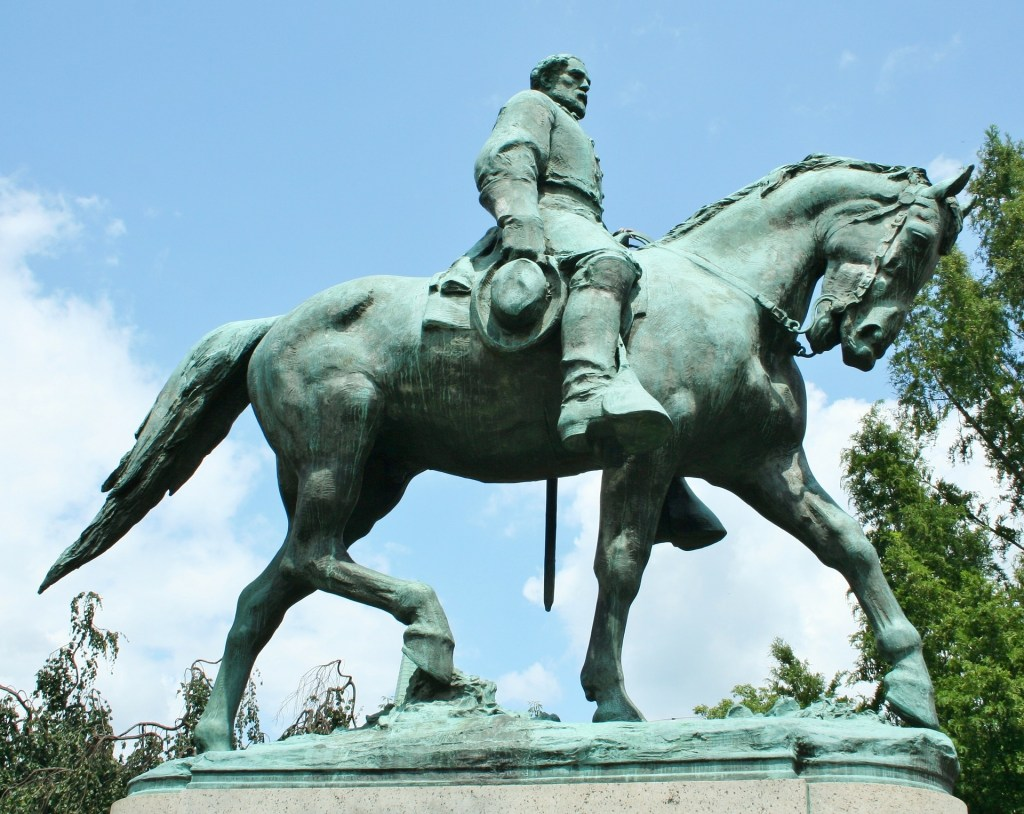 Statute of General Lee on horseback.