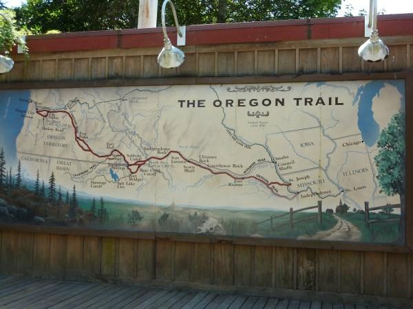 Map of Oregon Trail