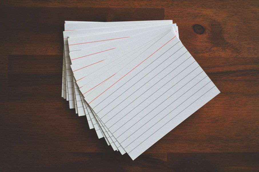 Exam Review Tip: How to create hard copy flash cards using