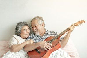 Happy Love Elderly Couple Smile Face, Senior Couple Old Man And