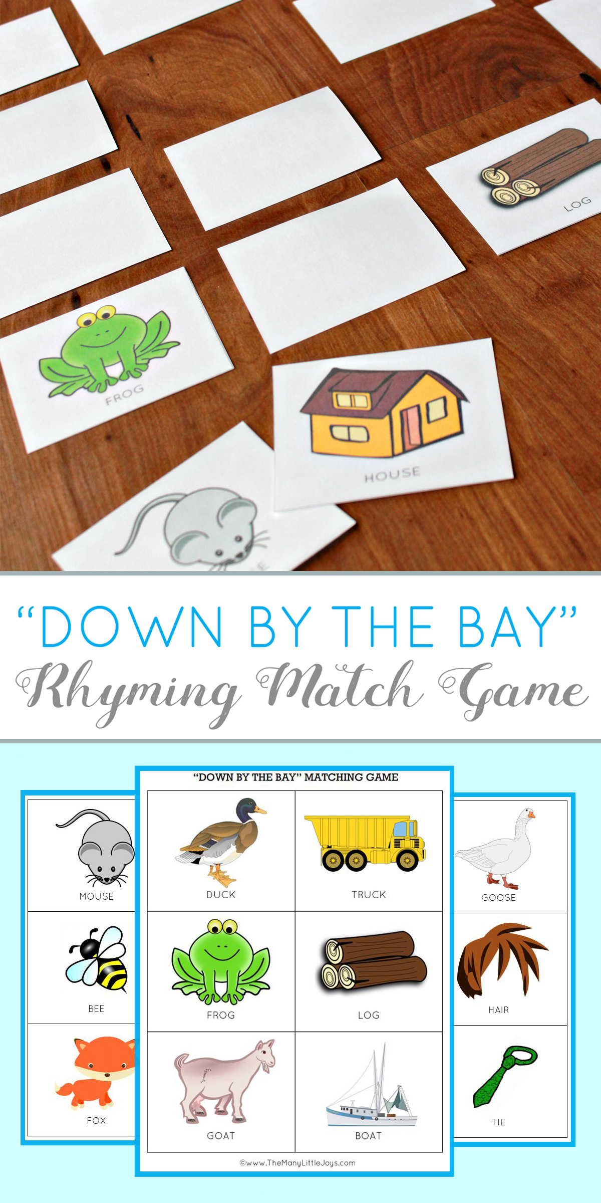 graphic about Printable Rhyming Games identify Education little ones towards rhyme: rhyming activity activity (cost-free printable