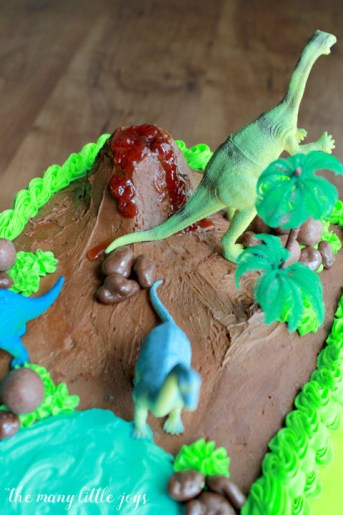 Cool How To Make A Dinosaur Birthday Cake The Many Little Joys Funny Birthday Cards Online Eattedamsfinfo